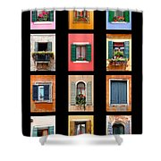 The Windows Of Venice Shower Curtain