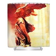 The Winged Victory  Shower Curtain by Marianna Mills