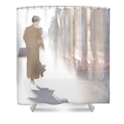 The Woman-riddle Shower Curtain