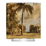The Wonder Of Fort Pierce Shower Curtain by Trish Tritz