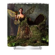 The Wood Sprite Shower Curtain