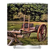 The Wooden Cart Shower Curtain