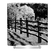 The Wooden Fence Shower Curtain