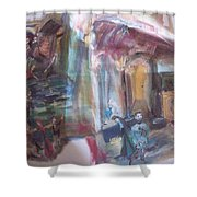 The World Loves A Play Shower Curtain