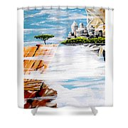 The World On A Platter  Shower Curtain