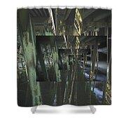 The World Under The Bridge  Shower Curtain