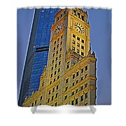 The Wrigley Building Shower Curtain