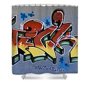 The Writing On The Wall Shower Curtain