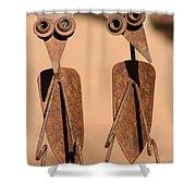 The Yard Birds Shower Curtain