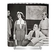 The Yelllow Typhoon, 1920 Shower Curtain by Granger