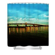 The York River Shower Curtain by Bill Cannon