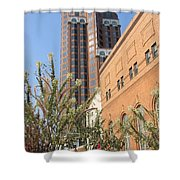 Theater District And City Flowers Shower Curtain