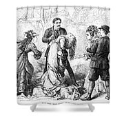 Theater: False Shame, 1872 Shower Curtain