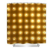 Theater Lights In Rows Shower Curtain
