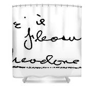 Theodore Dreiser (1871-1945) Shower Curtain