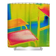 Thermal Shadow Shower Curtain