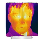 Thermogram Of A Boy Shower Curtain