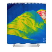 Thermogram Of A Child Sleeping Shower Curtain