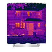 Thermogram Of A Home In Winter Shower Curtain