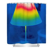 Thermogram Of A Lamp Shower Curtain