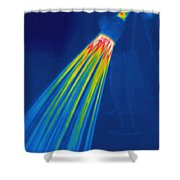 Thermogram Of A Shower Head Shower Curtain