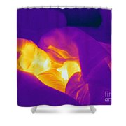 Thermogram Of A Sleeping Girl Shower Curtain