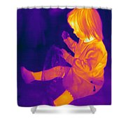 Thermogram Of A Young Girl Shower Curtain