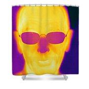 Thermogram Of An Elderly Man Shower Curtain