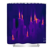 Thermogram Of Candles Shower Curtain