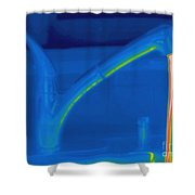 Thermogram Of Hot Water And A Faucet Shower Curtain