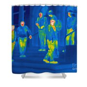 Thermogram Of Kids Hanging Shower Curtain