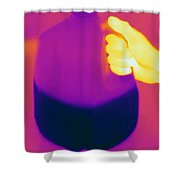 Thermogram Of Milk Jug Shower Curtain