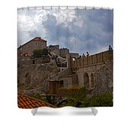 They Walk The Wall In Dubrovnik Shower Curtain