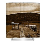 They Were Here Shower Curtain