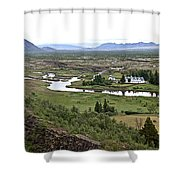 Thingvellir Valley Shower Curtain