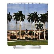 Thirteen Palms Shower Curtain