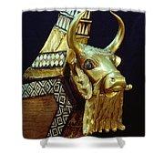 This Gilded Bull Originates Shower Curtain