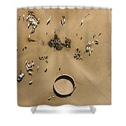 This Saharan Well Attracts Livestock Shower Curtain