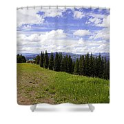 This Way To Eagle Nest - Vail Shower Curtain