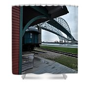 Thomas Edison Depot And Blue Water Bridges 2012 Shower Curtain
