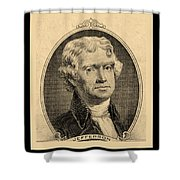 Thomas Jefferson In Sepia Shower Curtain
