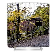Thomas Mill Covered Bridge Over The Wissahickon Shower Curtain