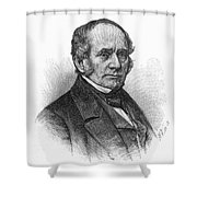 Thomas O. Larkin (1802-1858). American Merchant And California Pioneer. Wood Engraving, 19th Century Shower Curtain