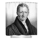 Thomas Robert Malthus Shower Curtain