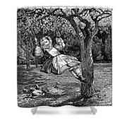 Thomas: The Swing, 1864 Shower Curtain