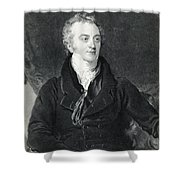 Thomas Young, English Polymath Shower Curtain