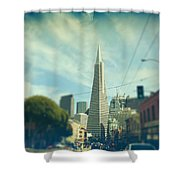Those Sunny Downtown Days Shower Curtain