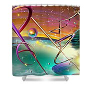 Thoughts And Threads Shower Curtain