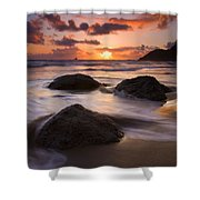 Three Against The Tide Shower Curtain