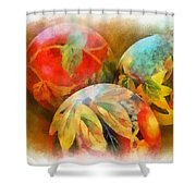 Three Balls - Watercolor Shower Curtain
